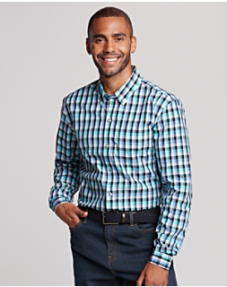 B&T Non Iron Sawyer Plaid