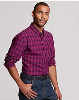 B&T Non Iron Prescott Plaid