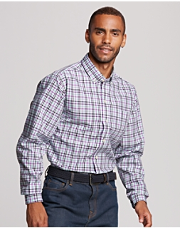 B&T Non Iron Irving Plaid