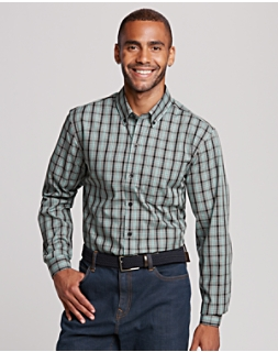 B&T Non Iron Davis Plaid