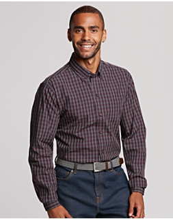 B&T Non Iron Cavanah Plaid