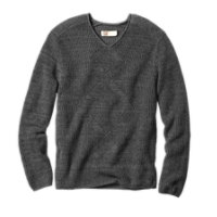 B&T Aberdeen Cable Texture V-neck