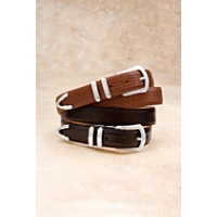 "Brighton Men's 1 1/8"" Lizard Belt"
