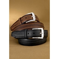 Brighton Balboa Two-Tone Leather Belt Cntr Stitch