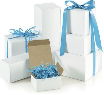 White One-Piece Gift Box Assortment, Various Sizes