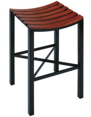 Parsons Wood Seat Barstool