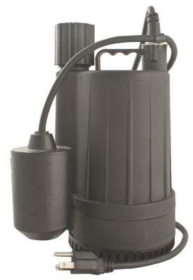 1/4 HP Thermoplastic Submersible Sump Pump with Tethered Float Switch