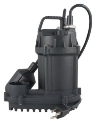 1/3 HP Cast Iron Submersible Sump Pump with Tethered Float Switch