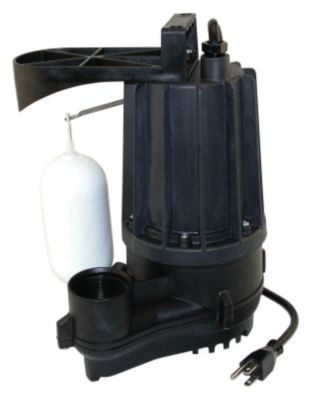 1/3 HP Thermoplastic Submersible Sump Pump with Vertical Float Switch