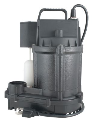 1/3 HP Cast Iron Submersible Sump Pump with Vertical Electronic Switch