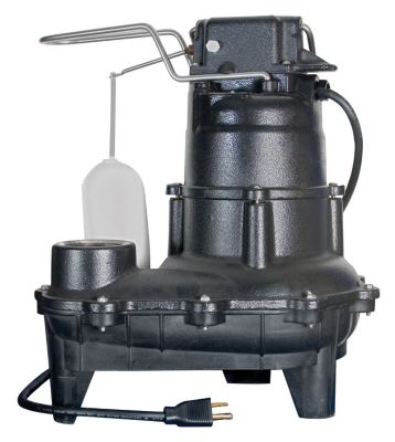 .4 HP Cast Iron Sewage Pump with Mechanical Float Switch