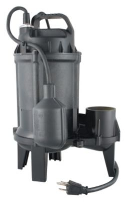 1/2 HP Cast Iron Sewage Pump with Tethered Float Switch