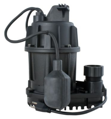 1/2 HP Cast Iron Submersible Sump Pump with Tethered Float Switch