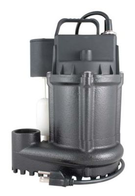 3/4 HP Cast Iron Submersible Sump Pump with Vertical Magnetic Switch