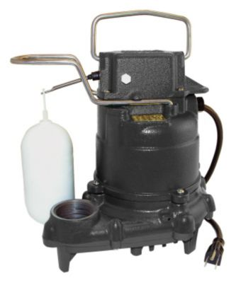 .3 HP Cast Iron Contractor Submersible Sump/Effluent Pump with Vertical Mechanical Float Switch