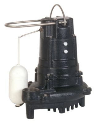 1/2 HP High Head Cast Iron Sump/Effluent Pump with Vertical Mechanical Float