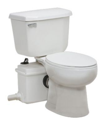 1/2 HP Power Flush Optima Instant Toilet System - Elongated Bowl
