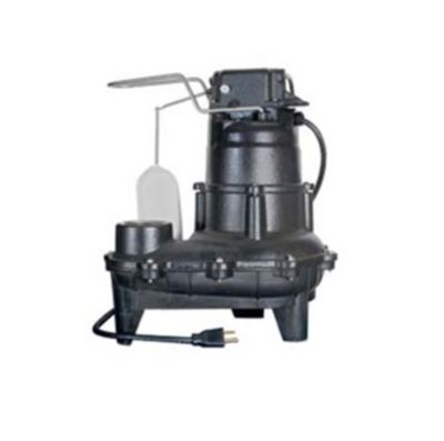 1/2 HP Cast Iron Sewage Pump with Mechanical Float Switch