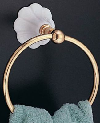 Fluted Porcelain Towel Ring