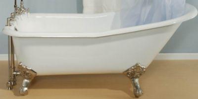 Tahoe 5-1/2' Cast Iron Slipper Clawfoot Tub