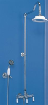 Exposed Wall Mount Shower Set with Handheld Shower