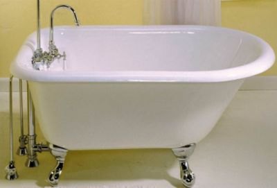 Harmony 4' Cast Iron Traditional Clawfoot Tub with Faucet Holes