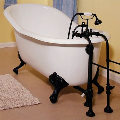 Lucerne 5' Cast Iron Slipper Tub Without Faucet Holes