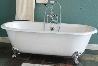 Cloud 5-1/2' Cast Iron Dual Tub without Faucet Holes