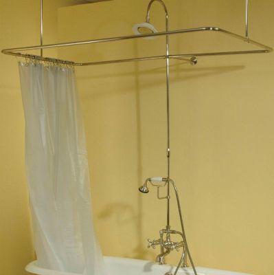 Deck Mount Shower Enclosure Set