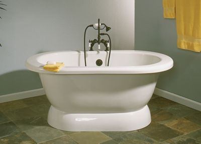Sonoma 5' Acrylic Dual Tub on Pedestal
