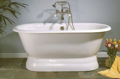 Peninsula 5' Cast Iron Dual Tub on Pedestal