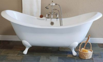 Moon 6' Cast Iron Peg Leg Double-Ended Slipper Tub