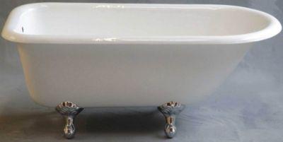 Geneva 5' Cast Iron Tub without Faucet Holes