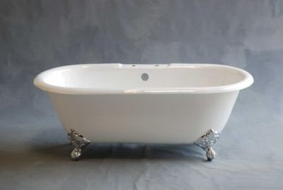 Mendocino 5' Cast Iron Dual Tub