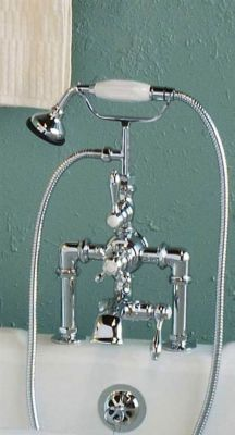 Thermostatic Deck Mount Faucet with Dropped Spout