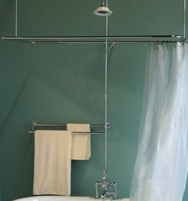 Thermostatic Side Mount Leg Tub Shower Enclosure Set
