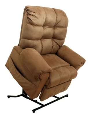 Omni Fabric Power Lift Full Lay-Out Chaise Recliner
