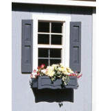 Large Square Window Shutters - Pair