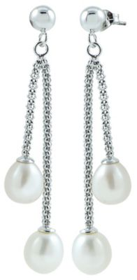 Freshwater in Silver Pearl Drop Earring
