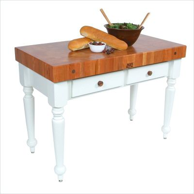 American Heritage Rustica Cherry Top Table with Alabaster Base