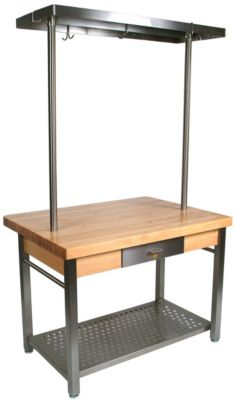 Cucina Americana Grande Stainless Steel Table - Maple