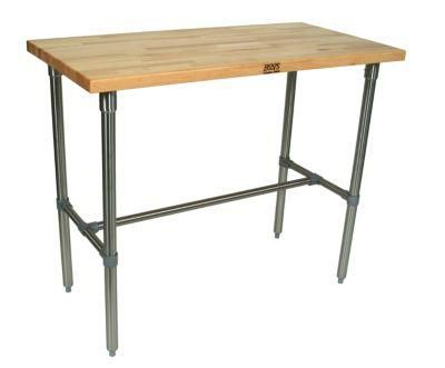 Cucina Americana Classico Stainless Steel Table - Maple