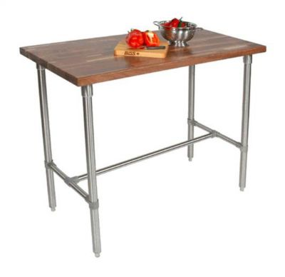 Cucina Americana Classico Stainless Steel Table - Walnut