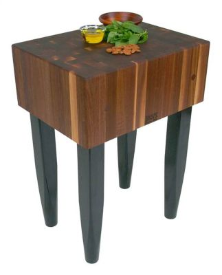 PCA Walnut Butcher Block with Black Legs