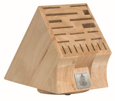 22-Slot Swivel Base Wood Knife Block