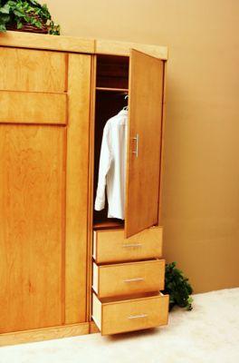 Modern Birch Full Wardrobe Cabinet