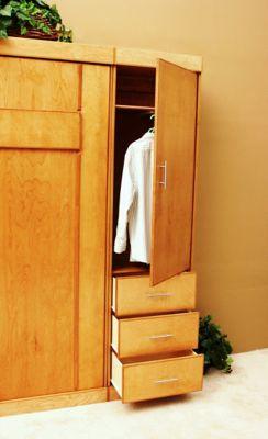Modern Birch Queen Wardrobe Cabinet
