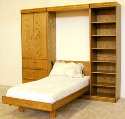 Contemporary Oak Full Pier Bookcase