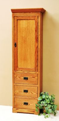Mission Oak Wardrobe Cabinet