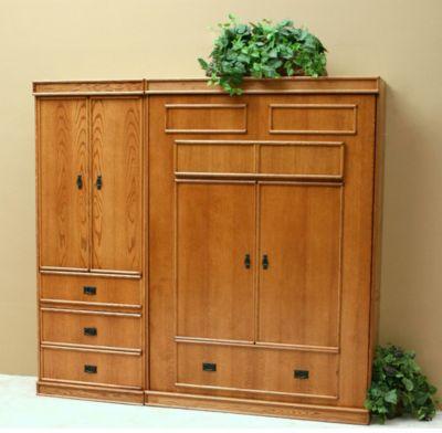 Transitional Oak Guest Cabinet